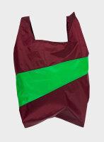 Shoppingbag L bordeaux/grün