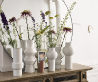 Gesprenkelte Vase rund