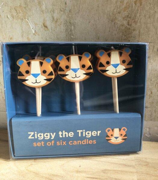 Ziggy, der Tiger Partykerzen