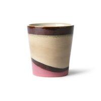 Ceramic Becher dunes, lila/beige,drot