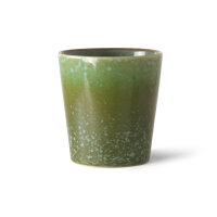 Ceramic Becher grass, grassgün sprenkel